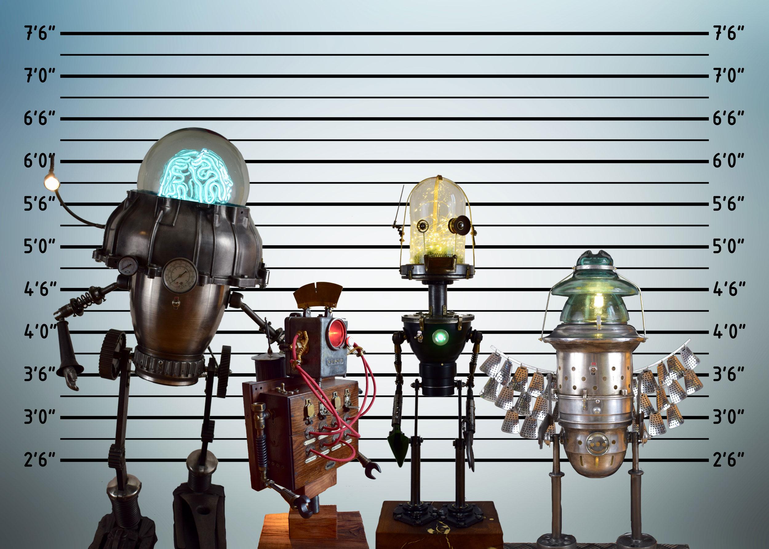 Exposition Perry Taylor dessin humoristique / Yannick Beslot sculpture lumineuse - L'Escale des Créateurs