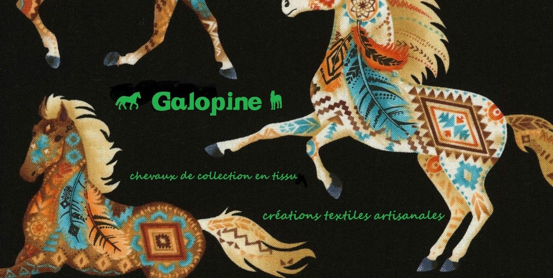 Galopine Création Chevaux de Collection en Tissu - L'Escale des Créateurs