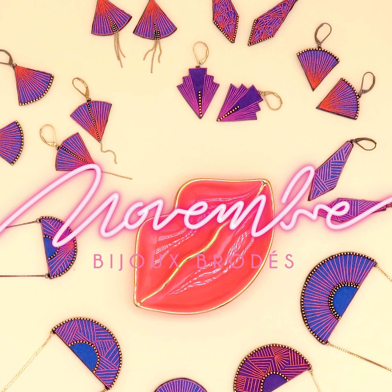Novembre bijoux brodés - L'Escale des Créateurs